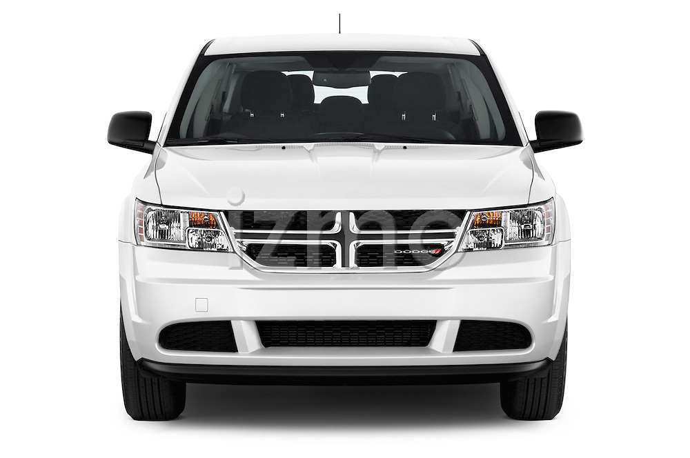 Car photography straight front view of a 2015 Dodge Journey American Value Package 5 Door SUV Front View