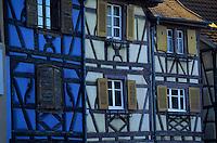 Europe/France/Alsace/68/Haut-Rhin/Colmar : Détail des façades quai de la poissonnerie
