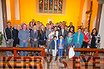 Jim & Caroline Heffernan from Chapletown, Valentia at the christening of their son Callum in Knightstown on Saturday pictured here with family and friends.