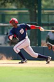 October 6, 2009:  Eury  Perez of the Washington Nationals organization during an Instructional League game at Disney's Wide World of Sports in Orlando, FL.  Photo by:  Mike Janes/Four Seam Images