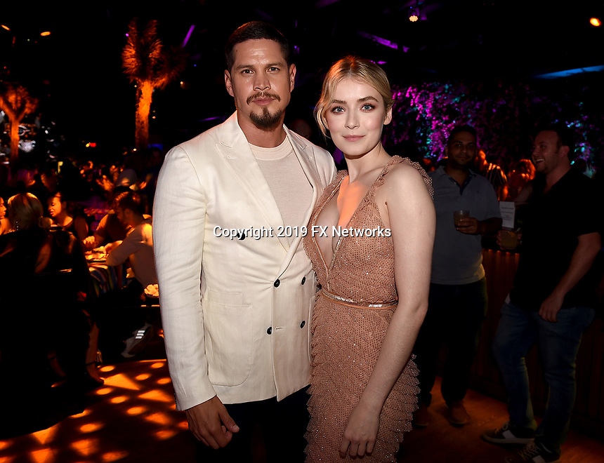 "LOS ANGELES - AUGUST 27: JD Pardo and Sarah Bolger attend the post party at Sunset Room Hollywood following the season two red carpet premiere of FX's ""Mayans M.C"" on August 27, 2019 in Los Angeles, California. (Photo by Frank Micelotta/FX/PictureGroup)"
