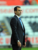 Saturday, 20 October 2012<br /> Pictured: Roberto Martinez manager for Wigan<br /> Re: Barclays Premier League, Swansea City FC v Wigan Athletic at the Liberty Stadium, south Wales.