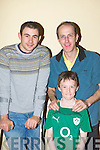 ..Derek and Jason Lee with Irish rugby international Felix Jones watching the Irish/Wales game in the INEC on Saturday morning....