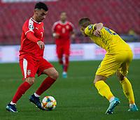 17th November 2019; Stadion Rajko Mitic, Belgrade, Serbia; European Championships 2020 Qualifier, Serbia versus Ukraine; Nemanja Radonjic of Serbia - Editorial Use
