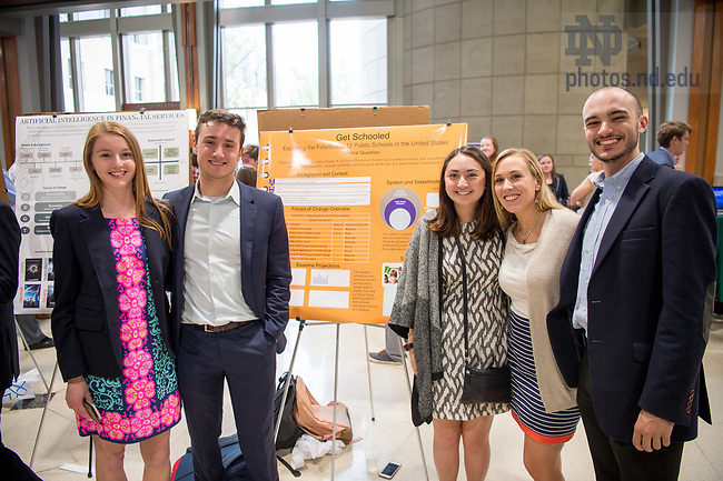 May 3, 2017; Foresight in Business and Society semester research project presentation (Photo by Matt Cashore/University of Notre Dame)