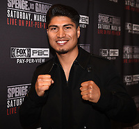 LOS ANGELES - FEBRUARY 16: Mikey Garcia attends the Los Angeles press conference for the March 16 Fox Sports PBC PPV of the Errol Spence Jr. vs Mikey Garcia fight on February 16, 2019 in Los Angeles, California. The March 16 fight will be at the AT&T Stadium in Dallas, Texas. (Photo by Frank Micelotta/Fox Sports/PictureGroup)