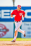 9 March 2013: Washington Nationals third baseman Ryan Zimmerman rounds the bases after hitting a home run during a Spring Training game against the Miami Marlins at Space Coast Stadium in Viera, Florida. The Nationals edged out the Marlins 8-7 in Grapefruit League play. Mandatory Credit: Ed Wolfstein Photo *** RAW (NEF) Image File Available ***