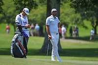 Dustin Johnson (USA) waits to hit his approach shot on 9 during round 3 of the WGC FedEx St. Jude Invitational, TPC Southwind, Memphis, Tennessee, USA. 7/27/2019.<br /> Picture Ken Murray / Golffile.ie<br /> <br /> All photo usage must carry mandatory copyright credit (© Golffile | Ken Murray)