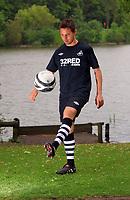 Pictured: Joe Allen<br /> Re: Swansea City Football Club away kits photo-shoot at Fendrod Lake, Enterprise Park, Swansea south Wales. Monday 07 June 2010