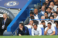 Chelsea Head Coach, Frank Lampard, Assistant Head Coach, Jody Morris and Assistant Coach, Joe Edwards during Chelsea vs Sheffield United, Premier League Football at Stamford Bridge on 31st August 2019