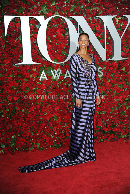 www.acepixs.com<br /> June 12, 2016  New York City<br /> <br /> Renee Elise Goldsberry attending the 70th Annual Tony Awards at The Beacon Theatre on June 12, 2016 in New York City.<br /> <br /> Credit: Kristin Callahan/ACE Pictures<br /> <br /> <br /> Tel: 646 769 0430<br /> Email: info@acepixs.com