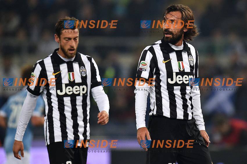 Andrea Pirlo (r), Claudio Marchisio Juventus <br /> Roma 22-11-2014 Stadio Olimpico, Football Calcio Serie A . Lazio - Juventus. Foto Andrea Staccioli / Insidefoto