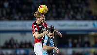 Josh Yorwerth of Crawley Town & Sam Wood of Wycombe Wanderers in action during the Sky Bet League 2 match between Wycombe Wanderers and Crawley Town at Adams Park, High Wycombe, England on 28 December 2015. Photo by Andy Rowland / PRiME Media Images