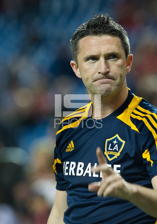 07 March 2012: LA Galaxy forward Robbie Keane #7 in action during the warm-up in a CONCACAF Champions League game between the LA Galaxy and Toronto FC at the Rogers Centre in Toronto..The game ended in a 2-2 draw.