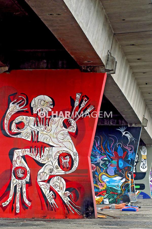 Grafite em via elevada. Santana. Foto Juca Martins