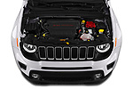 Car Stock 2019 JEEP Renegade Latitude 5 Door SUV Engine  high angle detail view
