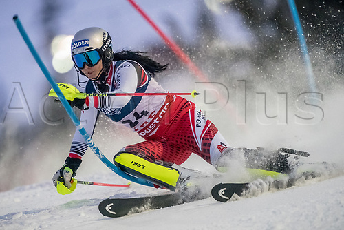 8th February 2019, Are, Sweden; Alpine skiing: Combination, ladies: Franziska Gritsch from Austria on the slalom course.