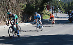 Gregor Muhlberger (AUS) Bora-Hansgrohe, Marc Soler (ESP) Movistar Team and Patrick Bevin (NZL) CCC Team descend during Stage 4 of the Volta Ciclista a Catalunya 2019 running 150.3km from Llanars (Vall De Camprodon) to La Molina (Alp), Spain. 28th March 2019.<br /> Picture: Colin Flockton | Cyclefile<br /> <br /> <br /> All photos usage must carry mandatory copyright credit (© Cyclefile | Colin Flockton)