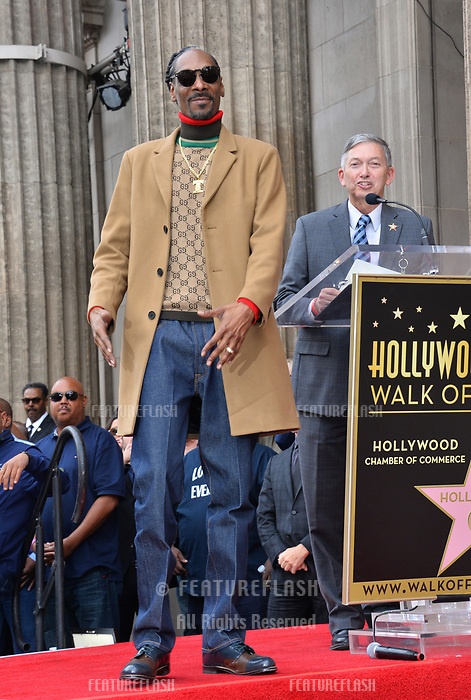 LOS ANGELES, CA. November 19, 2018: Snoop Dogg &amp; Leron Gubler at the Hollywood Walk of Fame Star Ceremony honoring Snoop Dogg.<br /> Pictures: Paul Smith/Featureflash