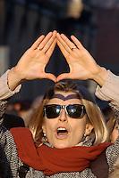 """manifestazione """"Siamo uscite dal silemzio"""", Milano 14 gennaio 2006"""