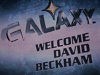 The David Beckham/LA Galaxy press conference at  the Home Depot Center in Carson, California, Friday, July 13, 2007.