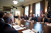 President Donald Trump speaks to the media during a cabinet meeting at the White House on November 20, 2017 in Washington, D.C. President Trump officially designated North Korea as a state sponsor of terrorism. <br /> Credit: Kevin Dietsch / Pool via CNP