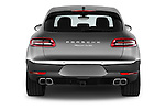 Straight rear view of a 2018 Porsche Macan Turbo 5 Door SUV stock images