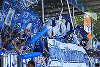 Fans der Darmstaedter feiern - 05.08.2018: SV Darmstadt 98 vs. SC Paderborn 07, Stadion am Boellenfalltor, 1. Spieltag 2. Bundesliga<br /> <br /> DISCLAIMER: <br /> DFL regulations prohibit any use of photographs as image sequences and/or quasi-video.