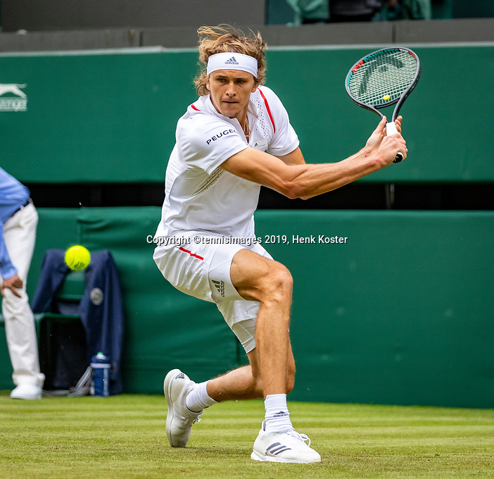 London, England, 1  st July, 2019, Tennis,  Wimbledon, Alexander Zverev (GER)<br /> Photo: Henk Koster/tennisimages.com