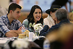 Conner Michitarian and Kaitlyn Barrett visit with other guests during the annual Western Nevada College Foundation Scholarship Appreciation &amp; Recognition Celebration in Carson City, Nev., on Friday, March 9, 2018. More than $260,000 in scholarships were awarded to more than 100 WNC students.<br /> Photo by Cathleen Allison/Nevada Momentum