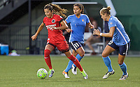 Portland, OR - Saturday July 02, 2016: Nadia Nadim during a regular season National Women's Soccer League (NWSL) match between the Portland Thorns FC and Sky Blue FC at Providence Park.