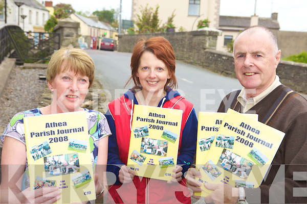 JOURNAL: Calling for submissions and pictures for this year's Athea Parish Journal in Athea on Friday were l-r: Lillian O'Carroll, Catherine Cleary, Domhnall De Barra.