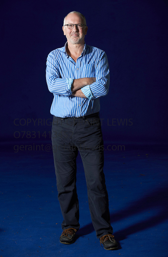Bill Jones, sport writer of the book The Ghost Runner at The Edinburgh International Book Festival   . Credit Geraint Lewis