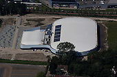 Leeuwarden - Luchtfoto bouw Elfstedenhal