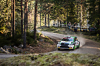 13th February 2020, Torsby base and Karlstad, Värmland County, Sweden; WRC Rally of Sweden, Shakedown event;  Oliver Solberg (SUE) - Aaron Johnston (GBR) - Skoda
