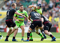 David Ribbans of Northampton Saints takes on the Saracens defence. Aviva Premiership match, between Saracens and Northampton Saints on September 2, 2017 at Twickenham Stadium in London, England. Photo by: Patrick Khachfe / JMP
