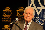 Former US president Jimmy Carter, at a press conference in Jerusalem, Israel Monday, April 21, 2008 (Photo by Ahikam Seri/Bloomberg News).