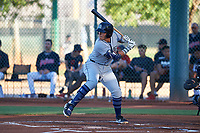 AZL Padres 1 Brandon Valenzuela (7) at bat during an Arizona League game against the AZL Indians Red on June 23, 2019 at the Cleveland Indians Training Complex in Goodyear, Arizona. AZL Indians Red defeated the AZL Padres 1 3-2. (Zachary Lucy/Four Seam Images)