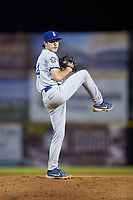 Burlington Royals relief pitcher Zack Phillips (34) in action against the Pulaski Yankees at Calfee Park on August 31, 2019 in Pulaski, Virginia. The Yankees defeated the Royals 6-0. (Brian Westerholt/Four Seam Images)