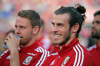 """Pictured: Gareth Bale at the Cardiff City Stadium Friday 08 July 2016<br />Re: Thousands of fans are expected to line the streets to welcome back the Wales national team. An open top bus will parade through Cardiff, from Cardiff Castle to Cardiff City Stadium where the Manic Street Preachers will play to 33,000 people.<br />The parade comes after Wales lost 2-0 to Portugal in the semi-final on Wednesday, with their historic run hailed as a performance which has """"changed Welsh football forever""""."""