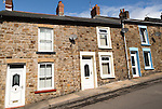 Terraced housing in Blaenavon World Heritage town, Torfaen, Monmouthshire, South Wales, UK