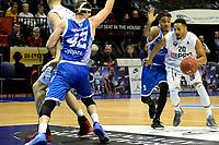 GRONINGEN - Basketbal, Donar - Landstede Zwolle, Martiniplaza,  Dutch Basketball League, seizoen 2017-2018, 12-11-2017,  Donar speler Brandyn Curry in duel met Landstede speler Sherron Dorsey-Walker