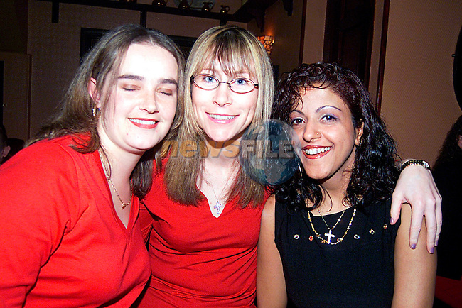 Melissa Fleming,Sharon Meade, Tina Riyat home fron London enjying a night in the Trinity Arms...Pic Tony Campbell/Newsfile