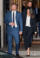 Prince Harry and Meghan Markle attend Endeavour Fund Awards Ceremony, annual ceremony hosted by organisation supporting the recovery of wounded, injured and sick servicemen and women, at Goldsmiths Hall, February 1st 2018,  London, UK.<br /> CAP/JOR<br /> &copy;JOR/Capital Pictures