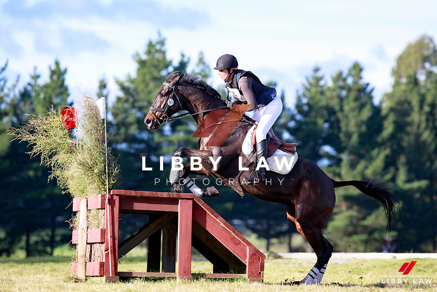 Jessica Woods rides LV Hat Trick during the AMS Saddlery CCI1* Open Cross Country at the 2017 NZL-NRM National Three Day Event Championships. National Equestrian Center, Taupo. Saturday 13 May. Copyright Photo: Libby Law Photography
