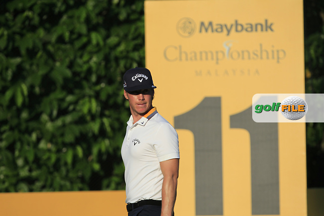 Kristoffer Broberg (SWE) in action on the 11th during Round Four of the Maybank Championship Malaysia 2016, at the Royal Selangor Golf Club, Kuala Lumpur, Malaysia.  21/02/2016. Picture: Golffile | Thos Caffrey.<br /> <br /> All photos usage must carry mandatory copyright credit (&copy; Golffile | Thos Caffrey).