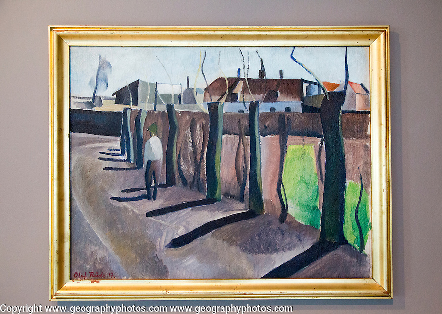 """'Man in a Street"""" 1917, Olaf Rude ( 1886-1957), oil on canvas, Kode 4 art gallery Bergen, Norway - check copyright status for intended use"""