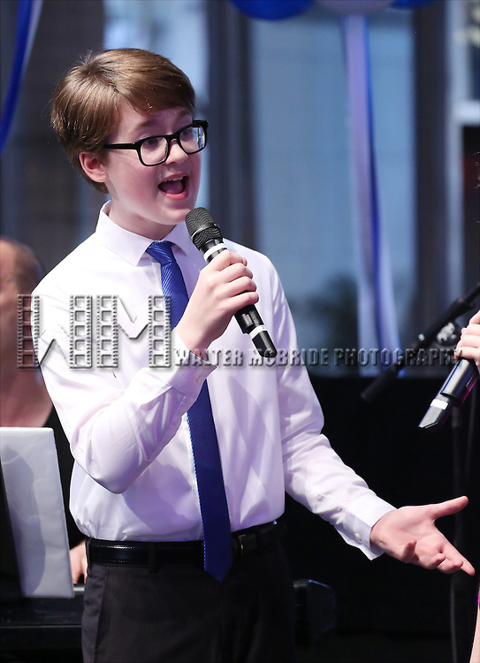 Jake Lucas performing at the Broadway Salutes 2015 in Anita's Way on September 29, 2015 in New York City.