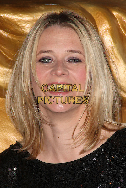 EDITH BOWMAN .2009 British Academy Television Craft Awards  at the London Hilton Hotel, London, England, UK, .May 17th 2009..Bafta Baftas TV Bafta's portrait headshot black sequined eyeliner  roots dyed hair teeth smiling  .CAP/JIL.©Jill Mayhew/Capital Pictures