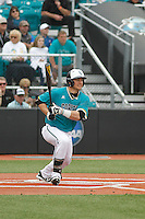 University of Coastal Carolina Chanticleers designated hitter G.K. Young (37) at bat during a game against the University of Virginia Cavaliers at Springs Brooks Stadium on February 21, 2016 in Conway, South Carolina. Coastal Carolina defeated Virginia 5-4. (Robert Gurganus/Four Seam Images)